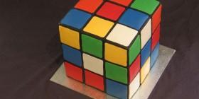 Tartas originales: Cubo de Rubik