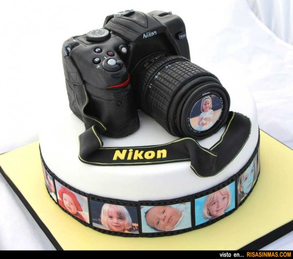 Tartas originales: Cámara Nikon