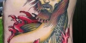 Tatuajes horrorosos: Carpa-cristo-zombie
