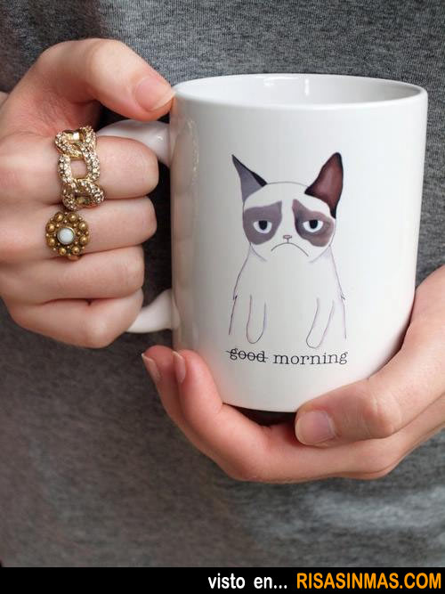 Taza del gato cabreado (Grumpy Cat)