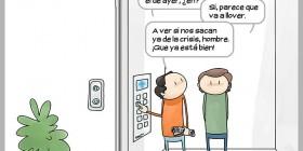 Típica conversación de vecinos en el ascensor