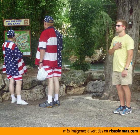 Un americano siempre es un patriota