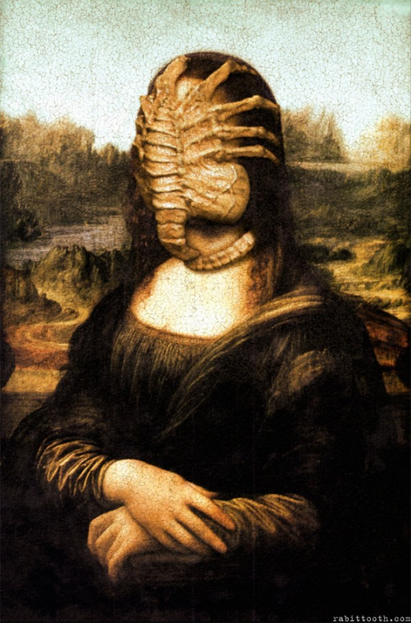 Versiones divertidas de La Mona Lisa: Alien
