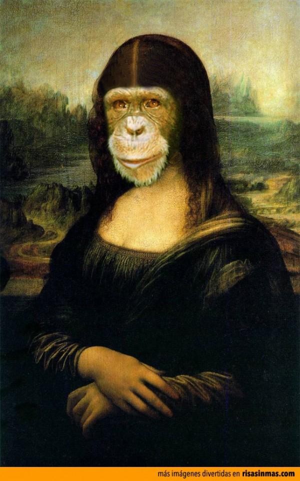 Versiones divertidas de La Mona Lisa: Chimpance