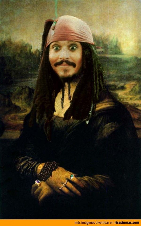 Versiones divertidas de La Mona Lisa: Jack Sparrow