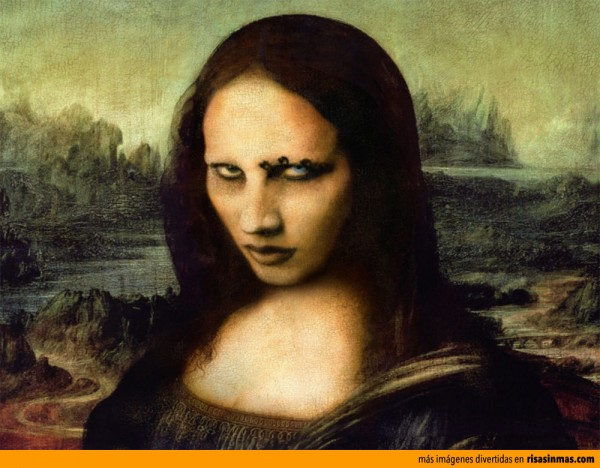 Versiones divertidas de La Mona Lisa: Marilyn Manson