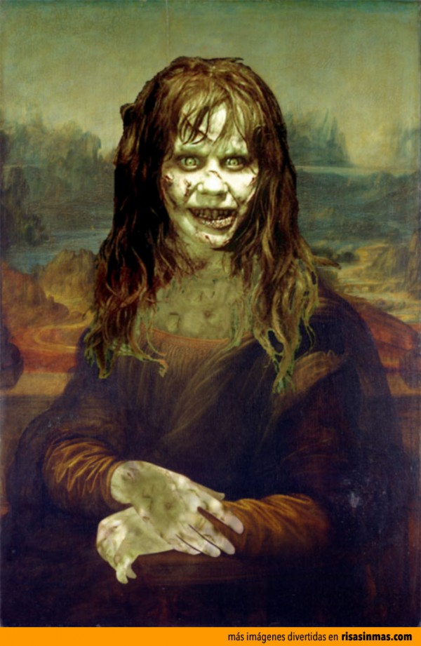 Versiones divertidas de La Mona Lisa: Megan de El exorcista