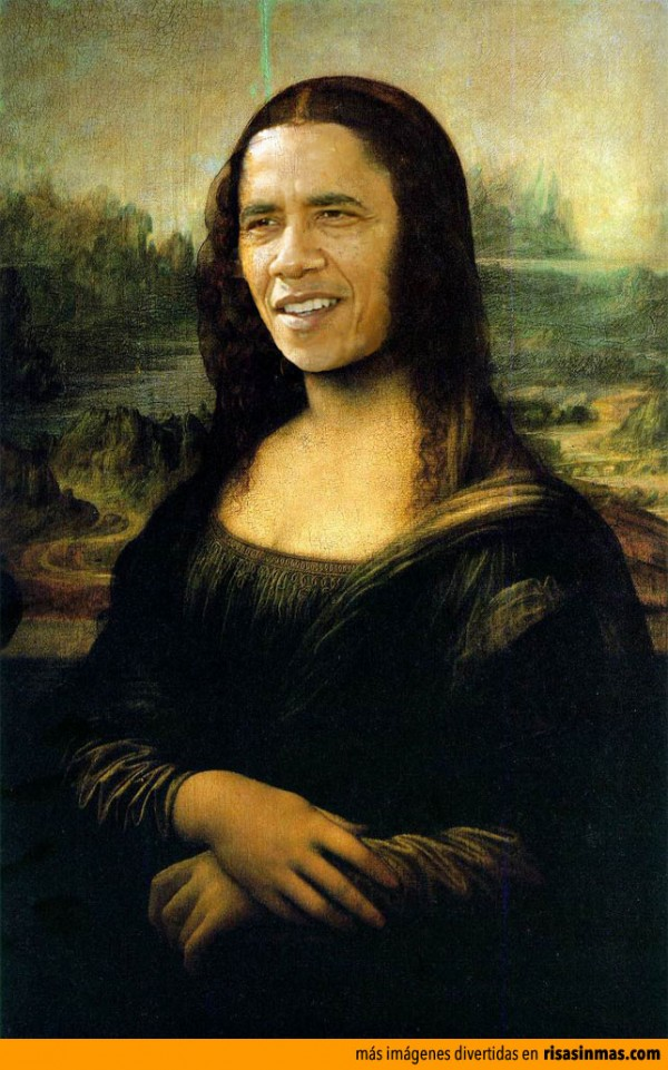 Versiones divertidas de La Mona Lisa: Obama