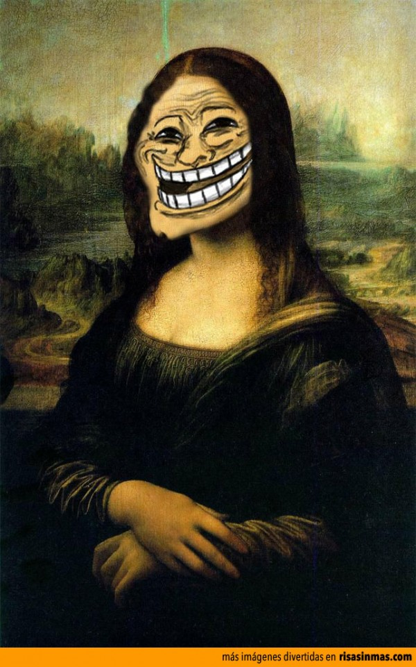 Versiones divertidas de La Mona Lisa: Troll Face