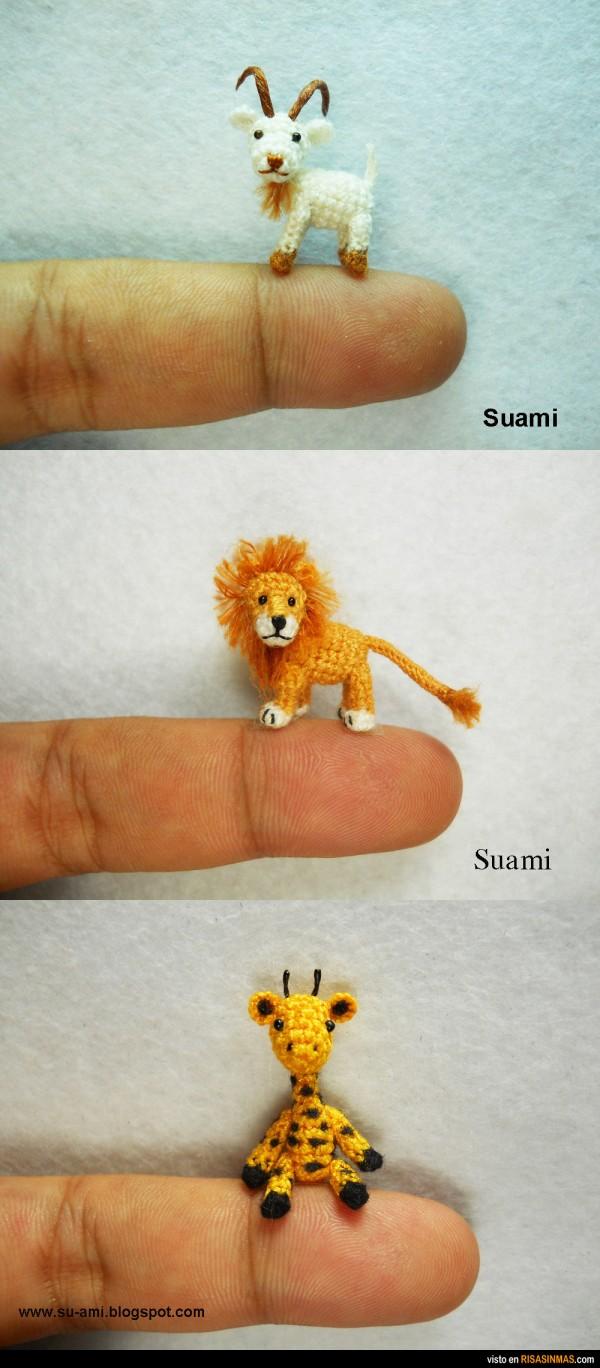 Animales minúsculos hechos con ganchillo