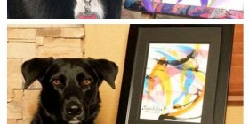 Arbor, el perro pintor