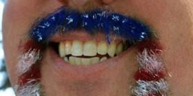Bigotes originales: bandera americana
