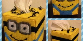 Caja de pañuelos Minion