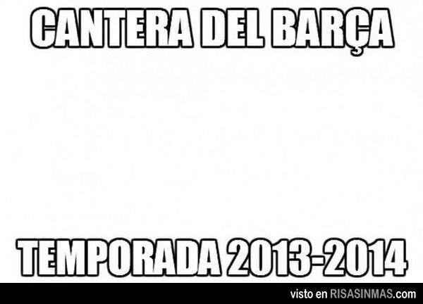 Cantera del Barça 2013-14