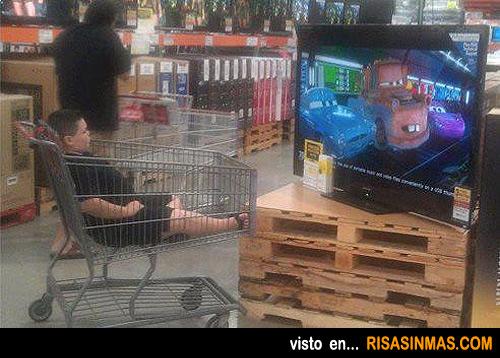 Cualquier sitio es bueno para ver la televisión