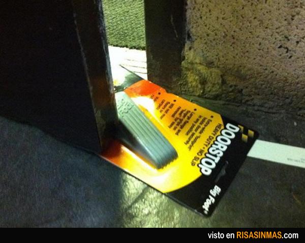 Cuña para puerta, explicación de uso