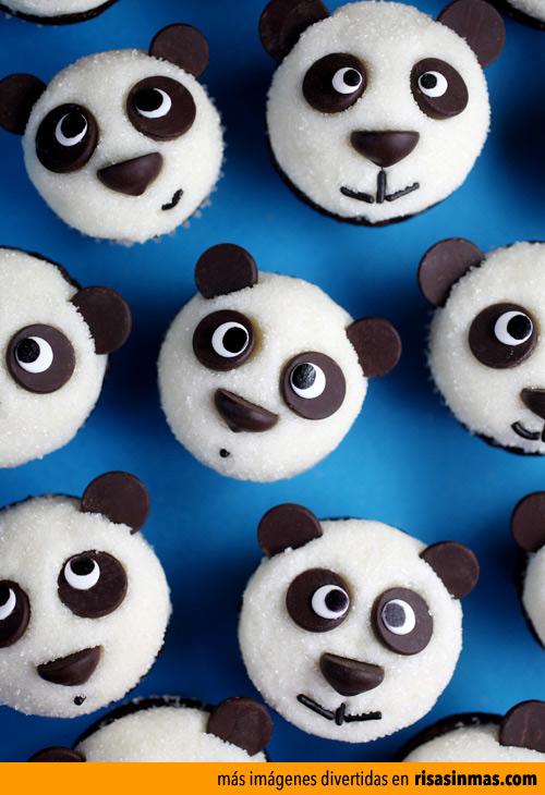Cupcakes originales: Pandas