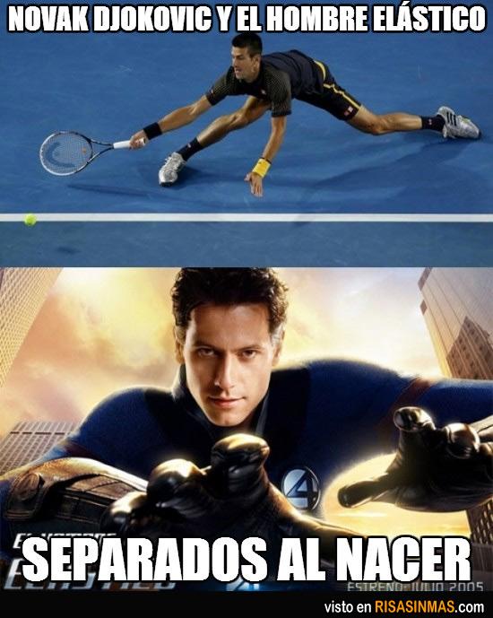 Djokovic y el hombre elástico