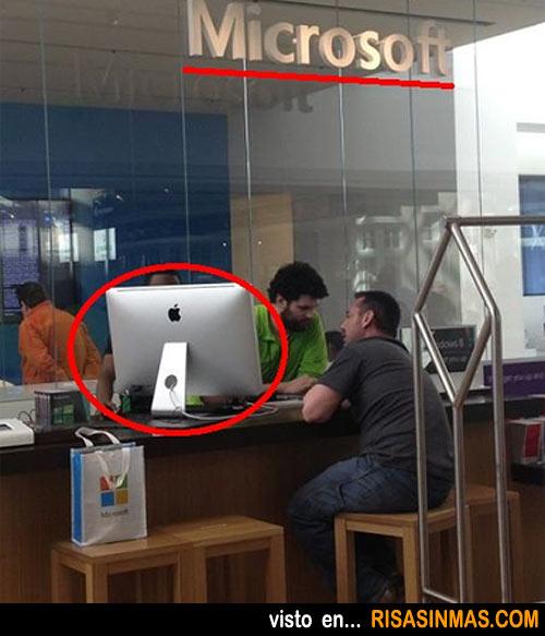En una oficina cualquiera de Microsoft