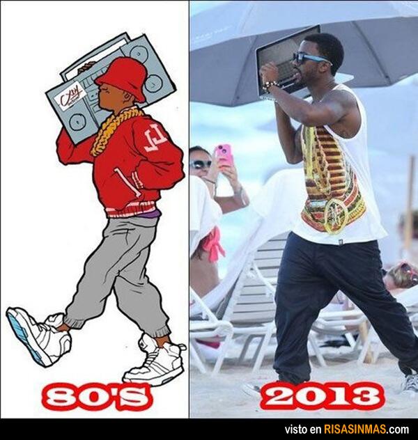 Evolución de llevar música al hombro