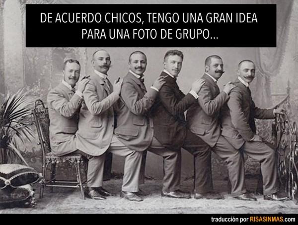 Una gran idea para una foto de grupo