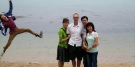 Fotobomba en la playa