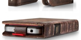 Funda - cartera libro antiguo para iPhone