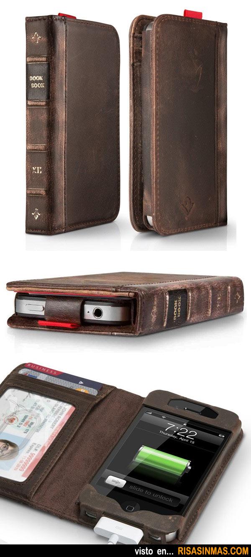 Funda - cartera libro antiguo para iPhone