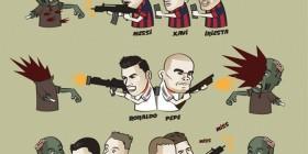 Futbolistas contra zombies