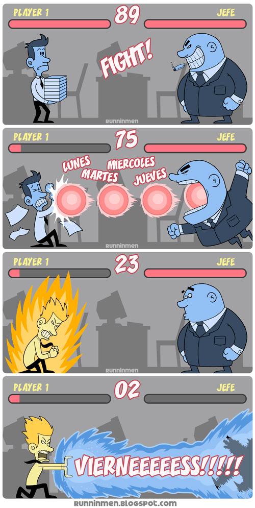 Viernes vs Jefe