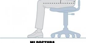 La postura correcta delante del ordenador