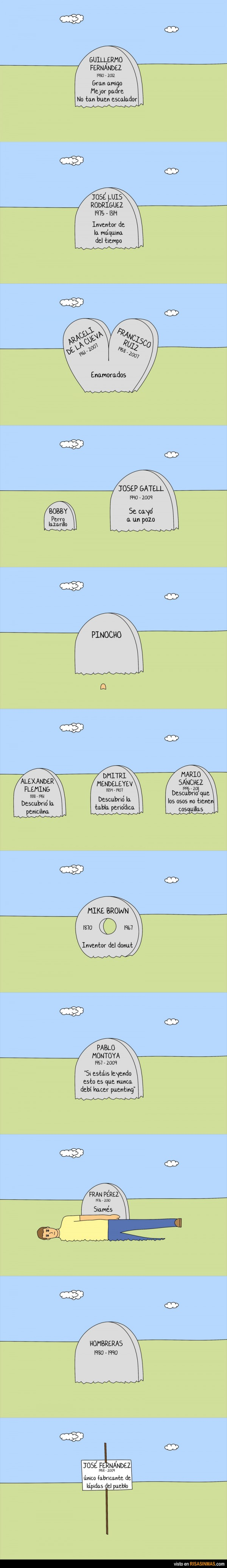 Una de lápidas