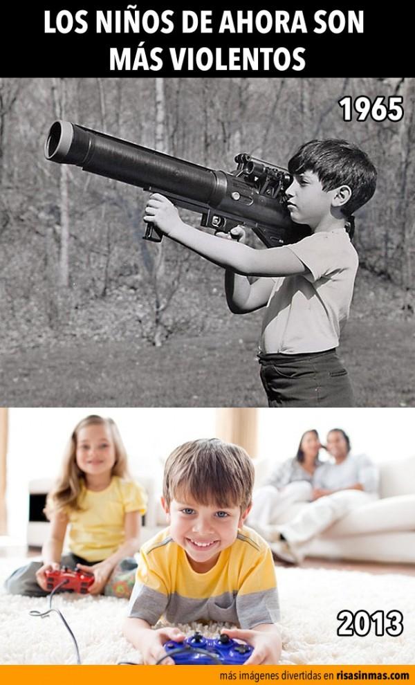 Los niños de ahora son más violentos