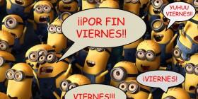 Manifestación de alegría de los Minions por ser viernes