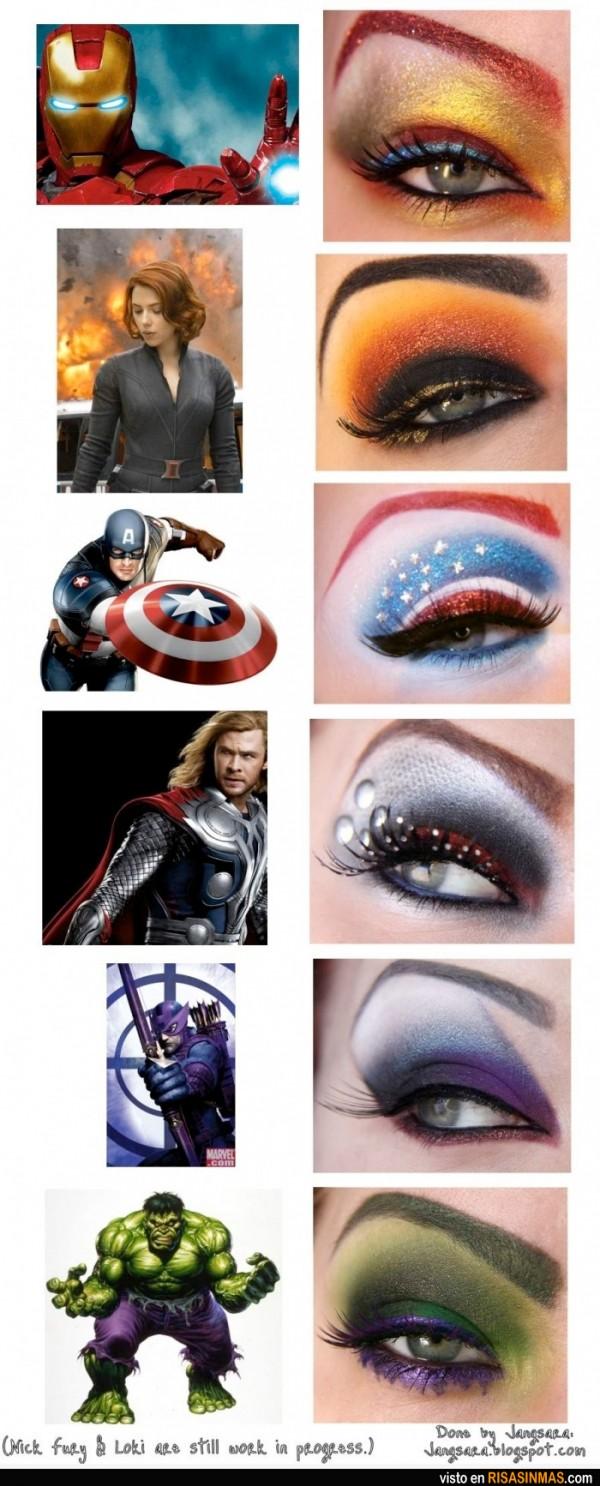 Maquillaje inspirado en los Vengadores