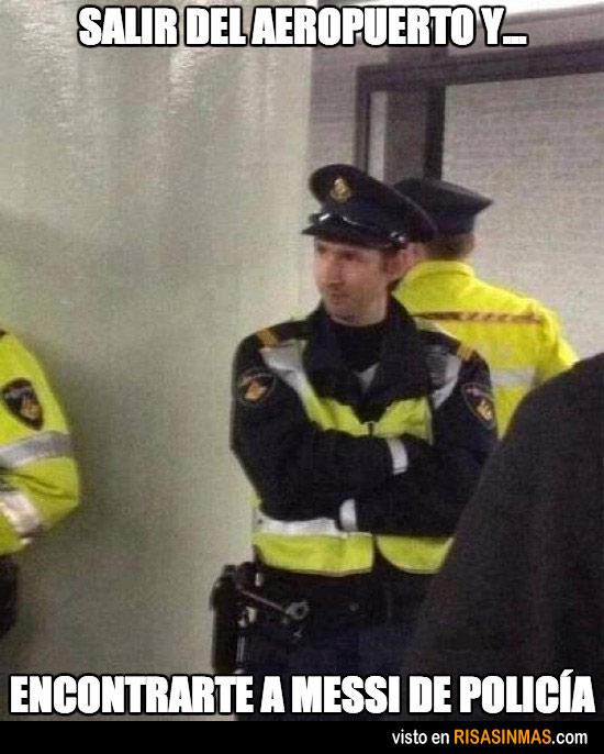 Messi de policía