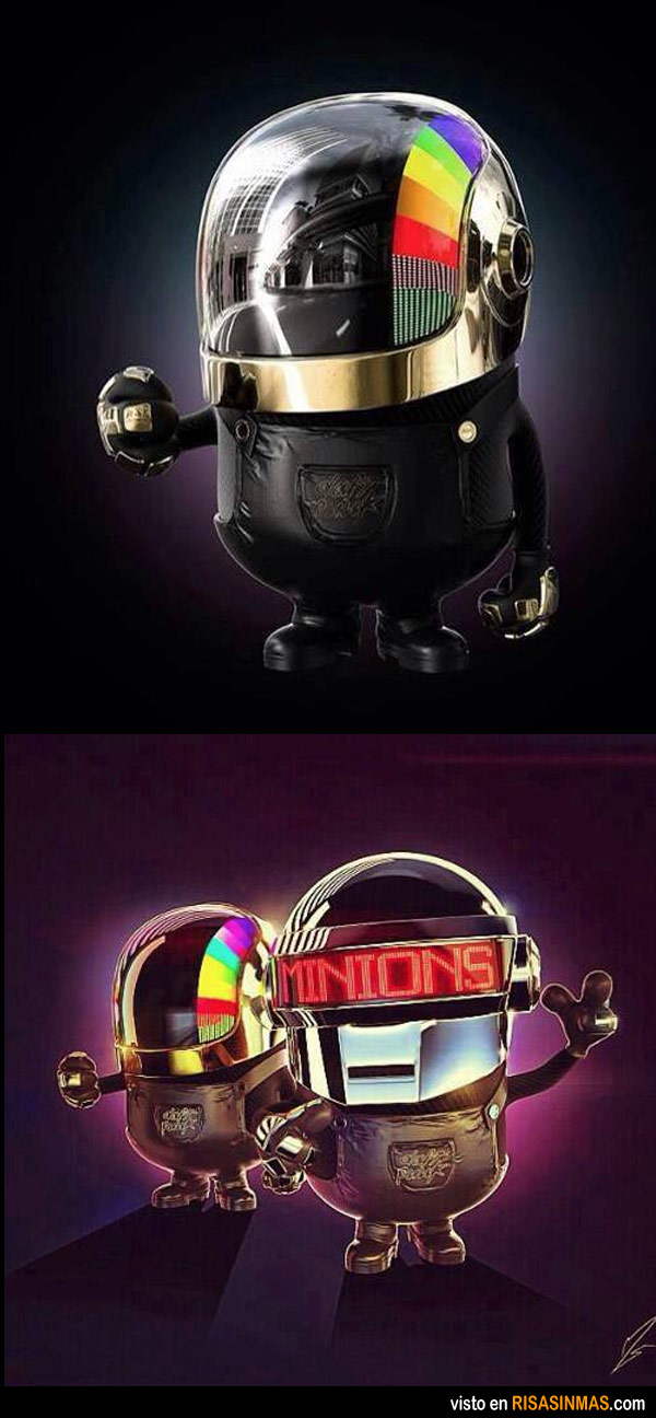 Minions como Daft Punk