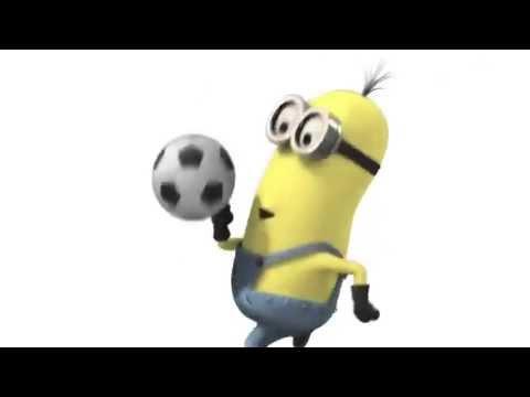 Minions jugando al fútbol