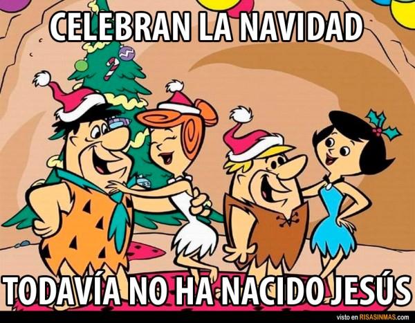 La extraña navidad de los Picapiedra