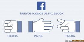 Nuevos iconos de Facebook: Piedra, papel o tijera