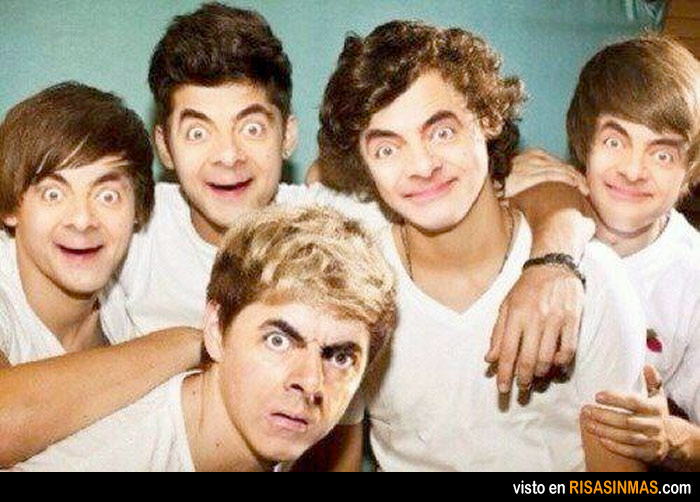 Jelly Bean Row >> One Direction… y Mr. Bean