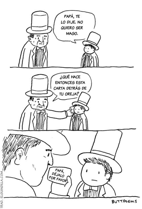 Papá no quiero ser mago