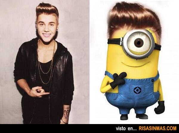 Parecidos razonables: Justin Bieber y Minion