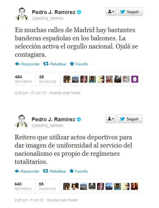 Las contradicciones de Pedro J. Ramírez