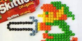 Personajes de videojuegos hechos con caramelos