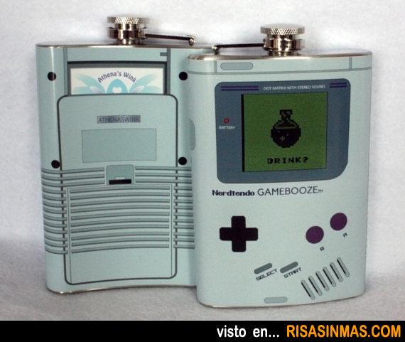 Petaca friki de Game Boy