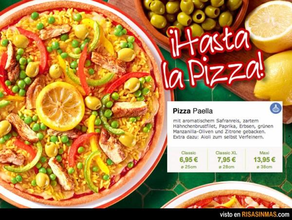 Pizza de paella
