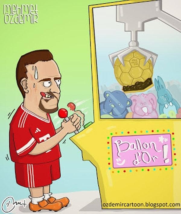 Ribéry a punto de conseguir el balón de oro