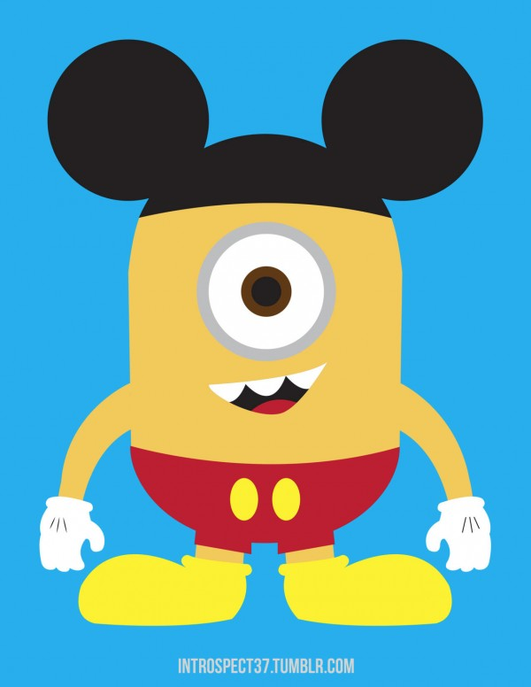 Si Mickey Mouse fuera un Minion