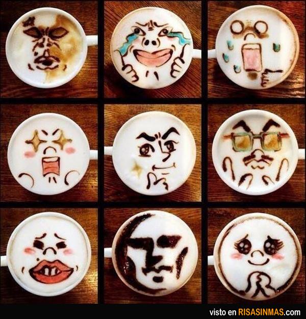 Cafés de stickers del LINE